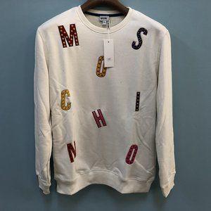 Moschino Letter Pattern White Sweatshirt